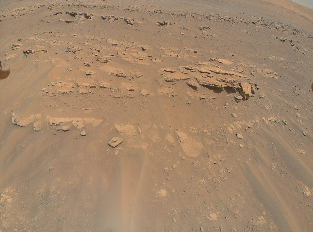 هلیکوپتر نبوغ ناسا تصویر سهبعدی پشته سنگی Faillefeu مریخ را ثبت کرد