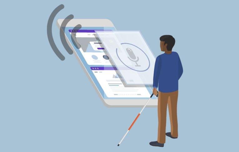 اینستاگرام برای افراد نابینا