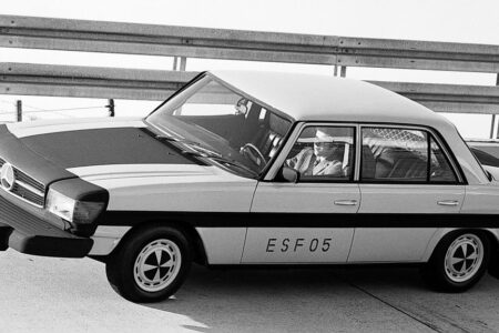به مناسبت 50 سالگی ESF 05؛ با اولین خودروی تست ایمنی مرسدس بنز آشنا شوید