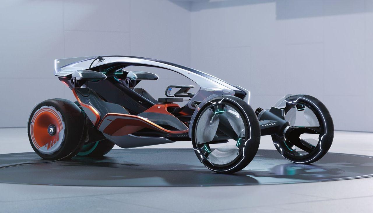 ترکیب موتورسیکلت و اتومبیل؛ ایده جذاب چینی ها در کانسپت سایک RYZER