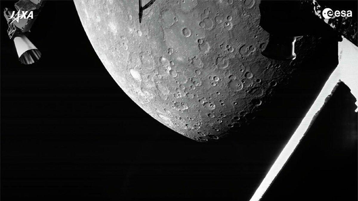 فضاپیمای BepiColombo اولین تصویر نزدیک از عطارد را به زمین مخابره کرد