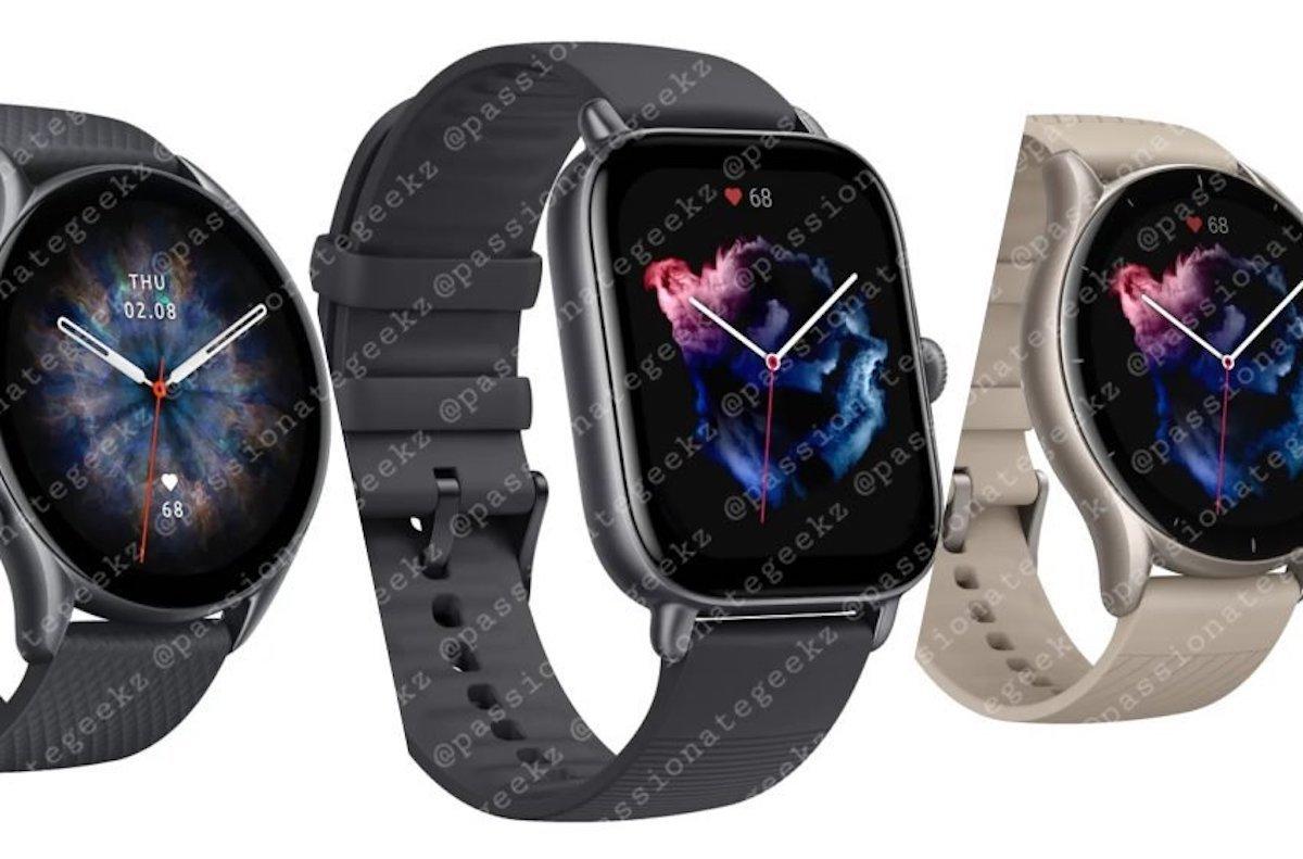 مشخصات کلیدی سه مدل جدید ساعت هوشمند Amazfit فاش شد