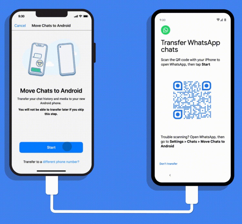 انتقال چتهای واتساپ از آیفون به پیکسل و گوشیهای اندروید ۱۲ ممکن میشود