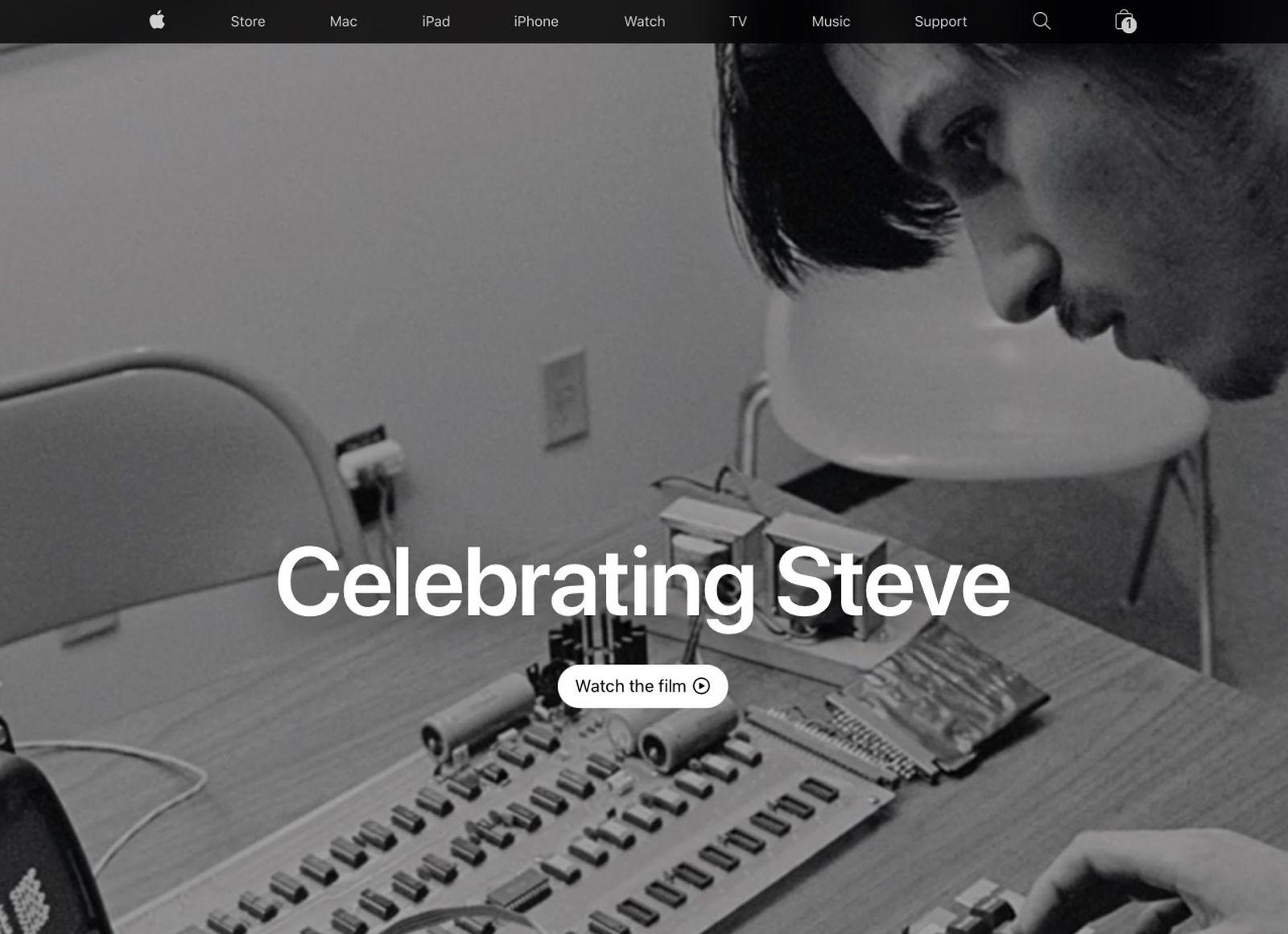 اپل در دهمین سالگرد درگذشت استیو جابز، صفحه اصلی وبسایتش را به بنیانگذارش اختصاص داد