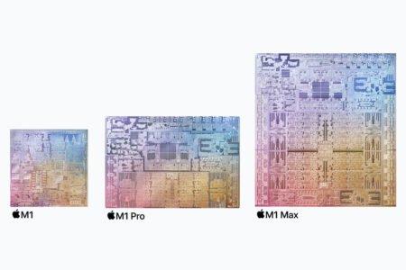 مقایسه توان پردازشگر گرافیکی M1 پرو و M1 مکس با گرافیکهای انویدیا و AMD