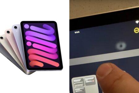 مشکل جدید نمایشگر آیپد مینی ۶؛ تغییر رنگ و بهم ریختگی در هنگام لمس صفحه [تماشا کنید]