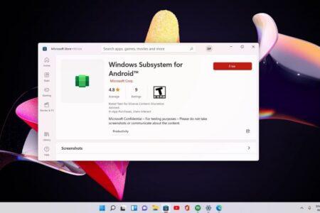 تصاویر لو رفتهای از اجرای اپهای اندرویدی روی ویندوز ۱۱