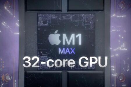 تراشه M1 مکس از نظر عملکرد گرافیکی ۱۸۱ درصد سریعتر از نسل قبل است