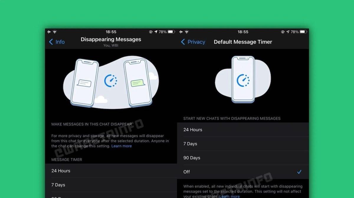 بتای جدید واتساپ با طراحی تازه صفحه چت و ابزارهایی برای پیامهای محوشونده منتشر شد